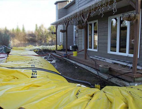 Complete flood protection of a house – Canada 2010