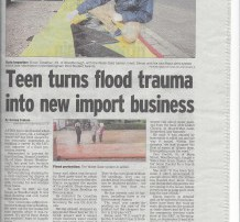 an article in a British newspaper about the water-gate flood barrier