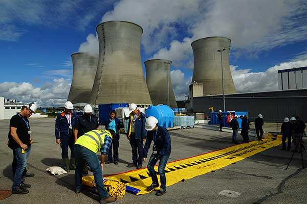 Nuclear power plant flood protection