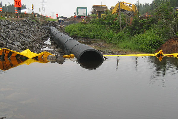 cofferdams and canalization of the river