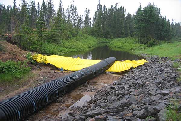 cofferdam pipes corrugated pipe