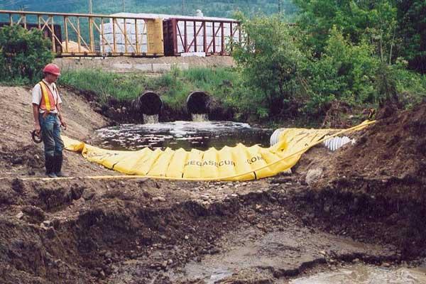 canalization river cofferdams