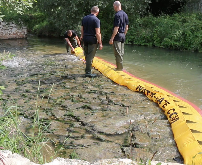 How to dry up a river threshold in 3 minutes!