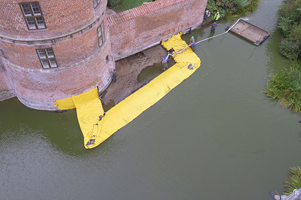 U-shaped cofferdam - Frederiksbord Castle - End of pumping